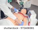 Cpr Training Using Medical Dummy