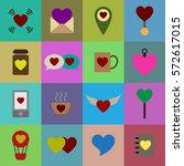 valentine icon set vector... | Shutterstock .eps vector #572617015