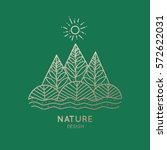 vector logo of nature elements... | Shutterstock .eps vector #572622031
