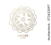 vector logo of nature on white... | Shutterstock .eps vector #572622097