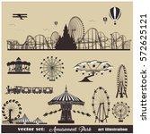 vector illustration set.roller... | Shutterstock .eps vector #572625121