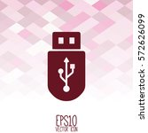 usb flash drive vector icon.... | Shutterstock .eps vector #572626099