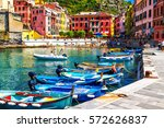 view of the boats and old... | Shutterstock . vector #572626837
