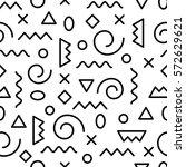 memphis seamless pattern.... | Shutterstock .eps vector #572629621