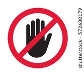 Hand Blocking Sign Stop. Vecto...