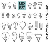 led light bulbs with e27 base ... | Shutterstock .eps vector #572630305