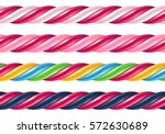 twisted candy cane colorful... | Shutterstock .eps vector #572630689