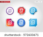 music icon. button with music... | Shutterstock .eps vector #572633671