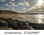 Woolacombe Beach / This beach was used in the second world war by the U S Army  for assault training prior to D-Day landing in Normandy. It has also been voted as one of the top 5 beaches in Europe.