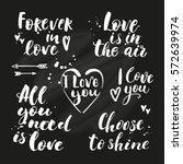 vector set of hand drawn...   Shutterstock .eps vector #572639974