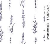 seamless pattern of lavender... | Shutterstock .eps vector #572640574