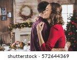 portrait of beautiful smiling... | Shutterstock . vector #572644369