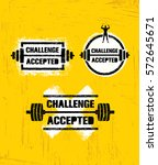 challenge accepted. creative... | Shutterstock .eps vector #572645671