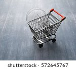 small shopping cart with large... | Shutterstock . vector #572645767