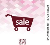 shopping cart icon. flat style... | Shutterstock .eps vector #572648605