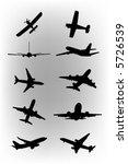 vector planes | Shutterstock .eps vector #5726539