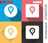 geo tag icon. button with geo... | Shutterstock .eps vector #572655724