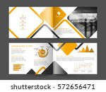 four pages professional... | Shutterstock .eps vector #572656471