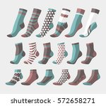 set icon of colored socks | Shutterstock .eps vector #572658271