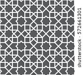 islamic black and white pattern.... | Shutterstock .eps vector #572661301