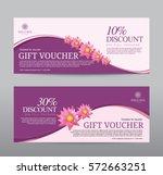 gift voucher for spa hotel... | Shutterstock .eps vector #572663251