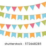 different colorful bunting for
