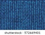 blue matrix futuristic... | Shutterstock .eps vector #572669401
