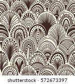 seamless abstract wave pattern | Shutterstock .eps vector #572673397
