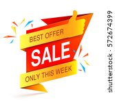 colorful sale event banner on... | Shutterstock . vector #572674399