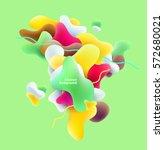 plastic colorful 3d shapes....   Shutterstock .eps vector #572680021