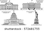 vector set of american... | Shutterstock .eps vector #572681755