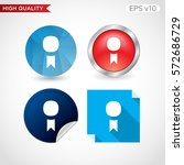 award icon. button with award... | Shutterstock .eps vector #572686729