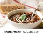 dal makhani   indian black...   Shutterstock . vector #572688619
