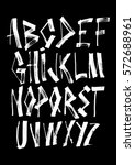 graphic font for your design.... | Shutterstock .eps vector #572688961