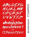 graphic font for your design.... | Shutterstock .eps vector #572689051