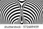 stripe torus background 3d... | Shutterstock . vector #572689459