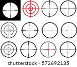 set of isolated aim  scope... | Shutterstock .eps vector #572692135