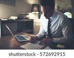 businessman working... | Shutterstock . vector #572692915