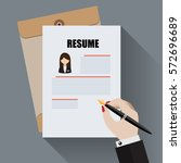 apply for new job by... | Shutterstock .eps vector #572696689