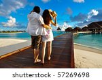 couple on a pathway of luxury... | Shutterstock . vector #57269698