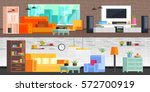set of modern furniture... | Shutterstock .eps vector #572700919