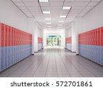 lockers in the high school... | Shutterstock . vector #572701861