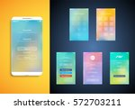 simple and colorful ui set for... | Shutterstock .eps vector #572703211
