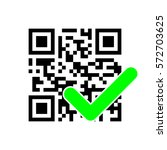 qr code with check mark | Shutterstock .eps vector #572703625