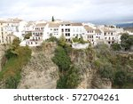 ronda spain old town cityscape | Shutterstock . vector #572704261
