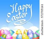Colorful Easter Eggs Border Fo...