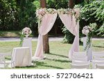 arch for the wedding ceremony ... | Shutterstock . vector #572706421