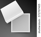 white open empty squares... | Shutterstock .eps vector #572707405