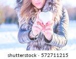 heart in the snow | Shutterstock . vector #572711215
