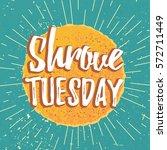 happy shrovetide maslenitsa... | Shutterstock .eps vector #572711449